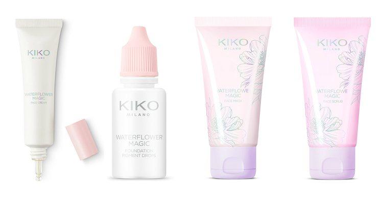Los productos de tratamiento facial de la colección 'Waterflower Magic' de Kiko
