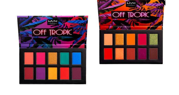 Las paletas de sombras de ojos 'Off Tropic Shadow Palette' de NYX Cosmetics