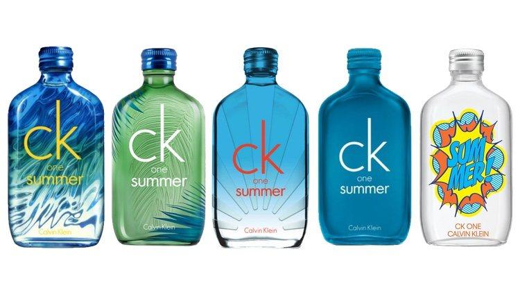 Perfumes 'CK One Summer' ediciones 2015, 2016, 2017, 2018, 2019 de Calvin Klein