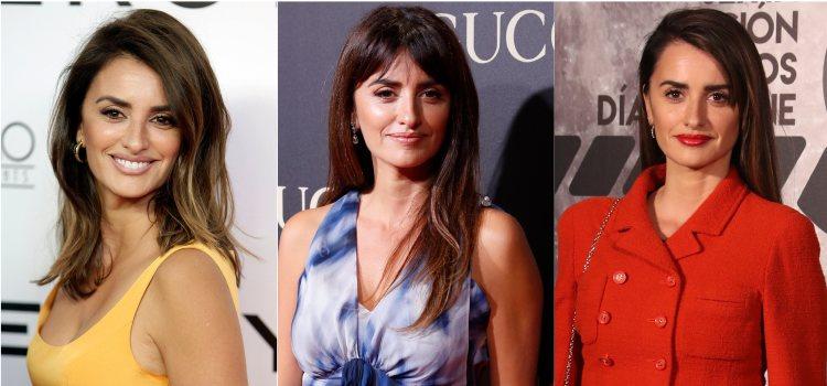 Varios peinados de la actriz Penélope Cruz con la melena lisa con volumen