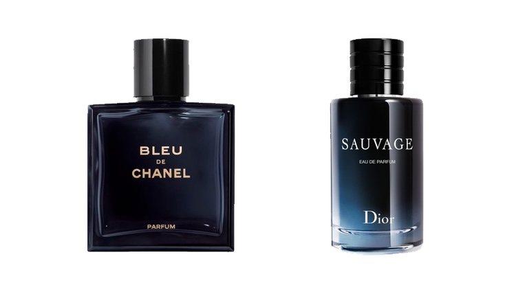 Perfumes Bleu de Chanel y Sauvage de Dior