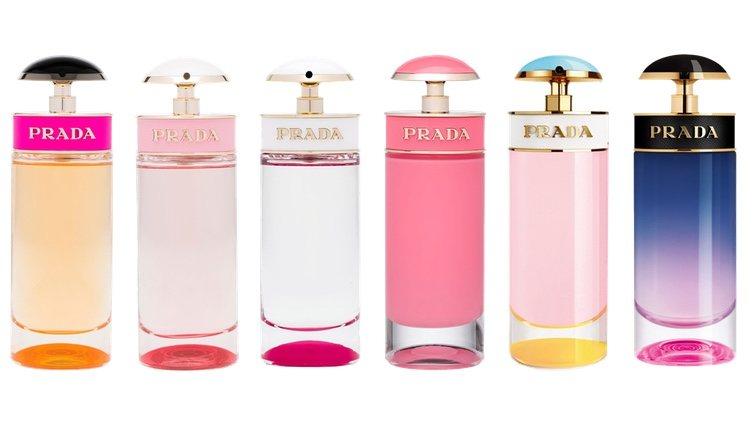 Perfumes 'Prada Candy', 'Prada Candy Florale', 'Prada Candy Kiss', 'Prada Candy Gloss', 'Prada Candy Sugar Pop' y 'Prada Candy Night' de Prada