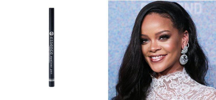 Rihanna, una de las cantantes que suele añadir un eyeliner a su maquillaje de ojos