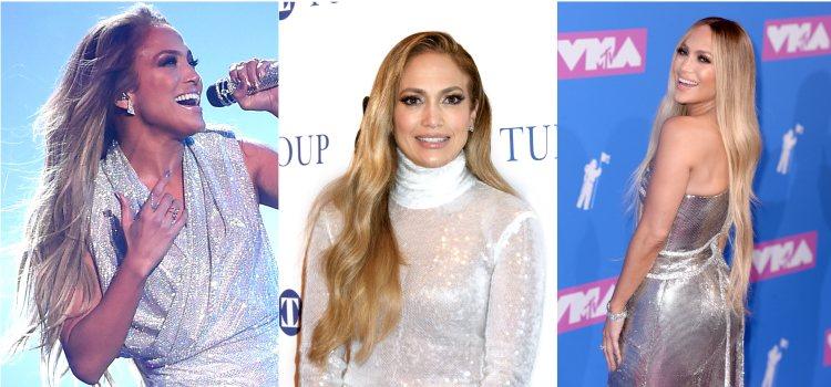 Varios looks de la cantante Jennifer Lopez con melena XXL