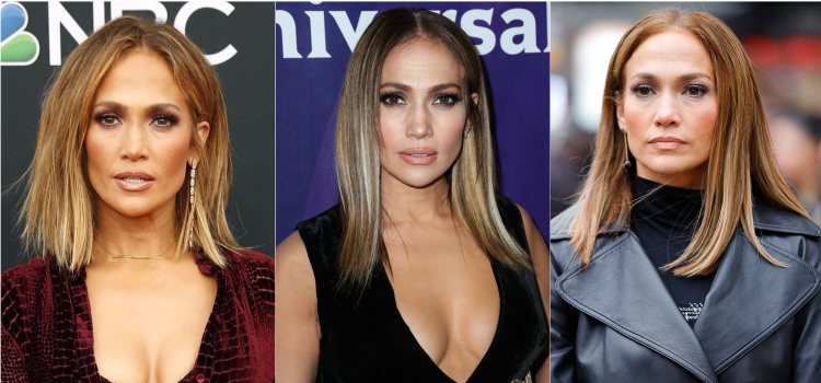 Varios looks de la cantante Jennifer Lopez con corte midi