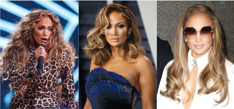 Varios looks de la cantante Jennifer Lopez con ondas marcadas