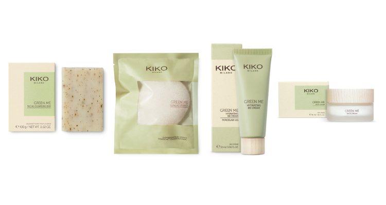 El jabón, la esponja, la crema facial y la BB Cream de la colección 'Green Me' de Kiko