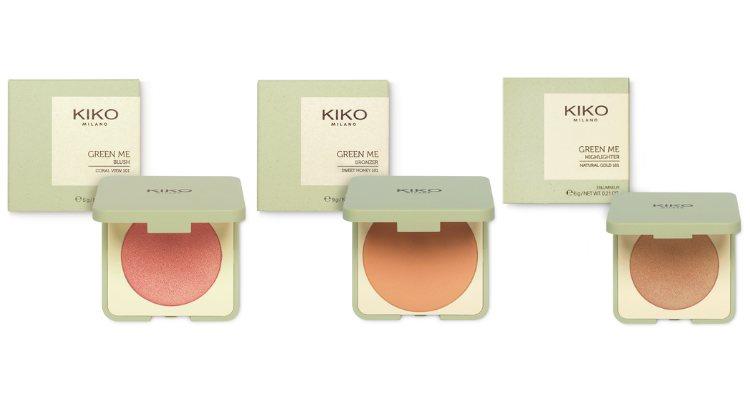 El colorete, el bronceador y el iluminador de la colección 'Green Me' de Kiko
