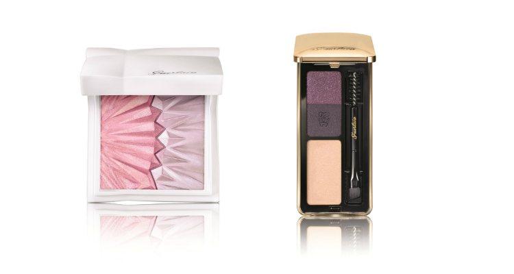 Las dos paletas, de rostro y de ojos, de la colección 'Morning Love' de Guerlain
