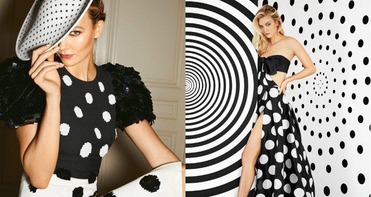 Karlie Kloss posa para la campaña de 'Good Girl Dot Drama'