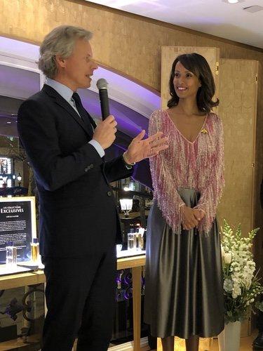 Sonia Rolland en su presentación como embajadora de Guerlain
