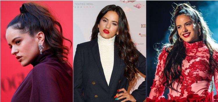 Varios looks de la cantante Rosalía