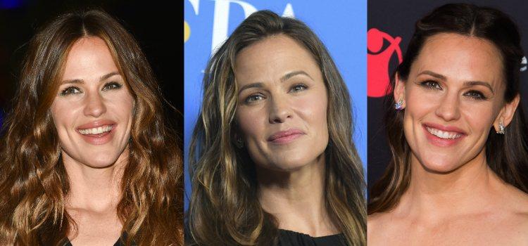 La piel hidratada y radiante de Jennifer Garner le da al look un resultado muy natural