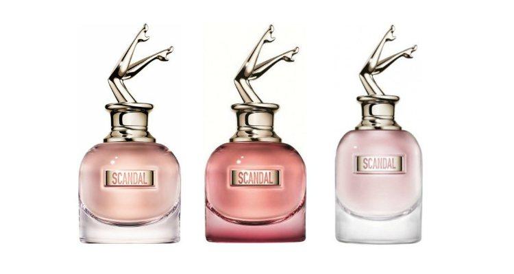Las tres ediciones de la colección de perfumes de Jean Paul Gaultier 'Scandal'