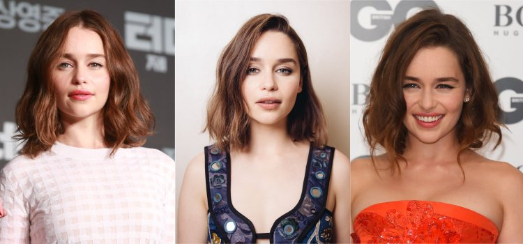 Varios looks de Emilia Clarke con ondas deshechas