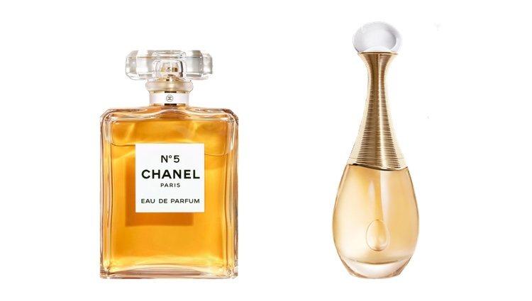 Perfumes 'Chanel Nº5' y 'J'Adore'