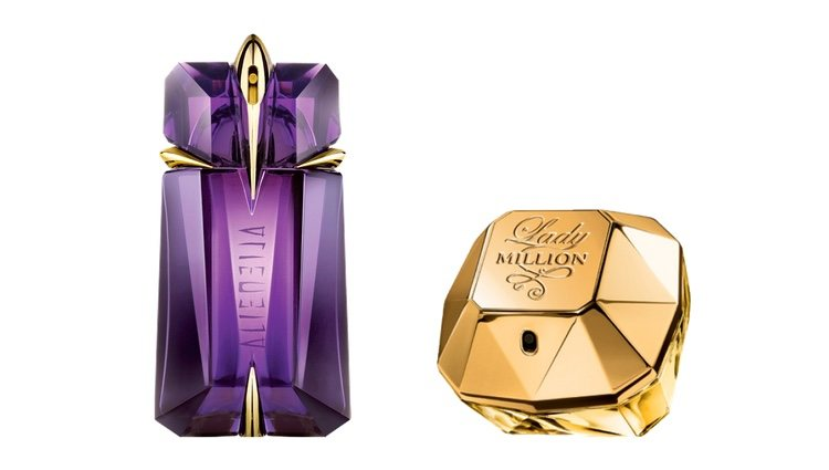 Perfumes 'Alien' y 'Lady Million'