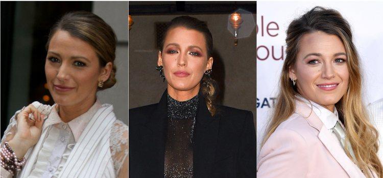 Varios looks de la actriz Blake Lively con recogidos