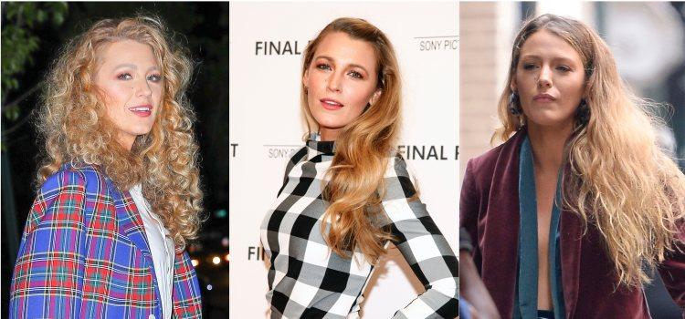 Varios looks de la actriz Blake Lively con el pelo rizado