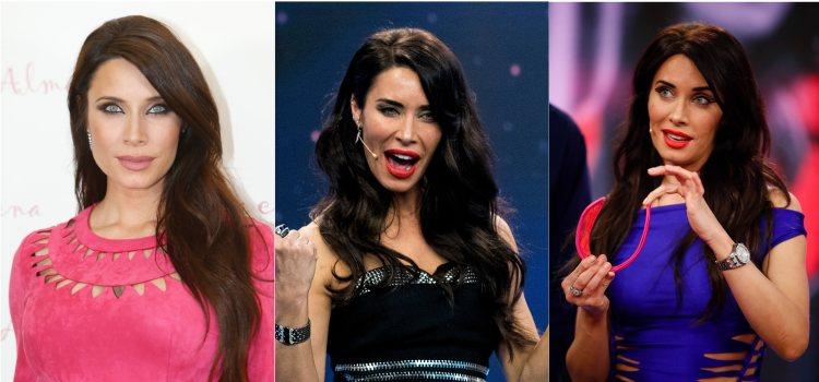 Varios looks de la presentadora Pilar Rubio con raya lateral