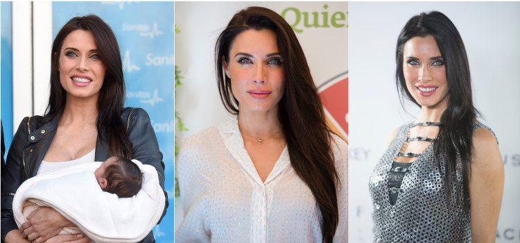 Varios looks de la presentadora Pilar Rubio con una melena lisa