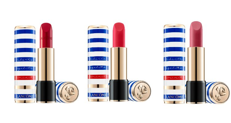 Los tres tonos del labial 'L'Absolu Rouge' para la colección 'Liberté, Égalité, Féminité' de Lancôme
