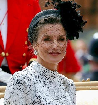 La Reina Letizia en la condecoración de Felipe VI por la Orden de Jarretera
