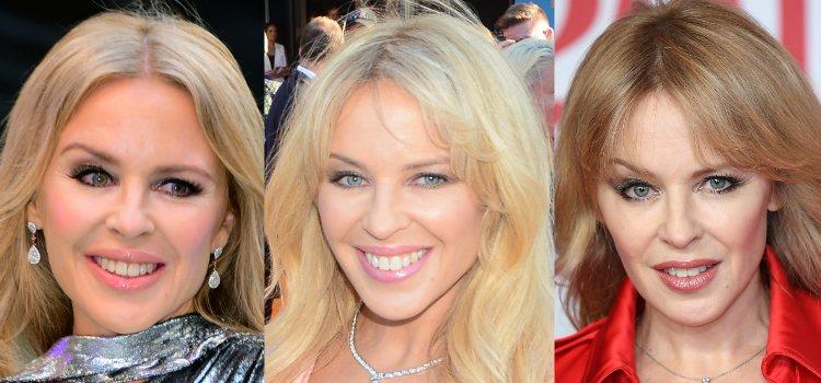 Kylie Minogue fan de las cejas finas y arqueadas