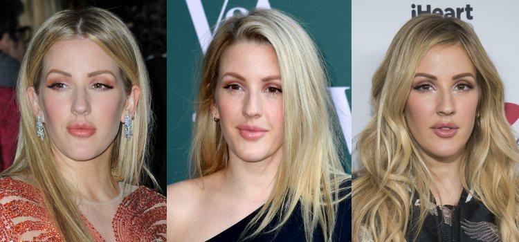 Ellie Goulding opta por un acabado aterciopelado para la piel