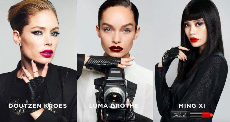 Doutzen Kroes, Luma Grothe y Ming Xi para Karl Lagerfeld x L'Oréal Paris