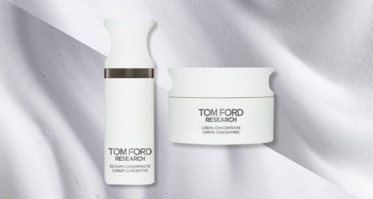 La crema y el serum de 'Tom Ford Research'