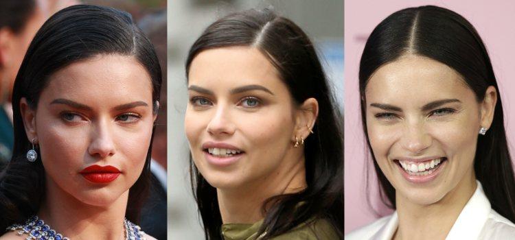 Adriana Lima maquilla suavemente sus cejas para que se vean más naturales