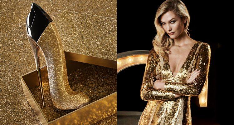 Karlie Kloss se viste de dorado para presentar 'Good Girl Glorious Gold'