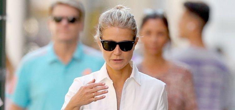 Gwyneth Paltrow disimula su pelo sucio con un moño rápido