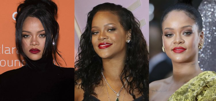 Rihanna apuesta por unas cejas delicadamente dibujadas que ayudan a enmarcar su mirada