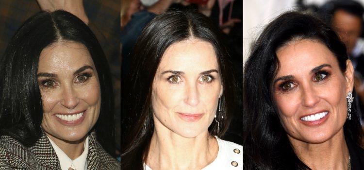 Demi Moore apuesta por el acabado natural para los labios