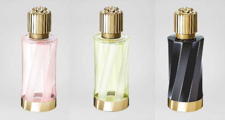 Tres de los seis perfumes de la exclusiva nueva colección de Versace