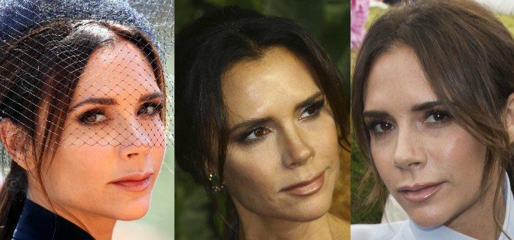 Victoria Beckham apuesta por los labios nude amarronados
