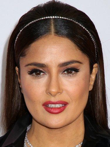 Salma Hayek con eyeliner felino