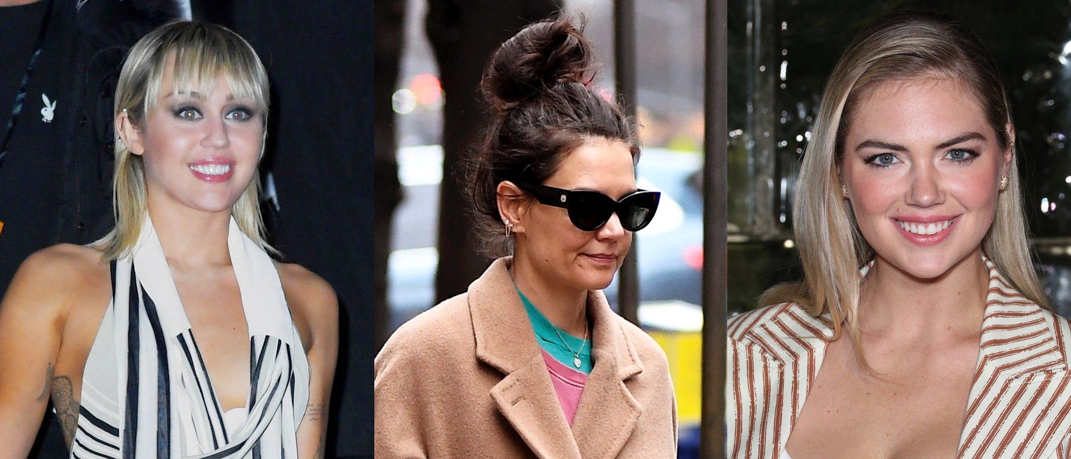 Miley Cyrus, Kate Holmes y Kate Upton lucen los peores beauty looks de la semana