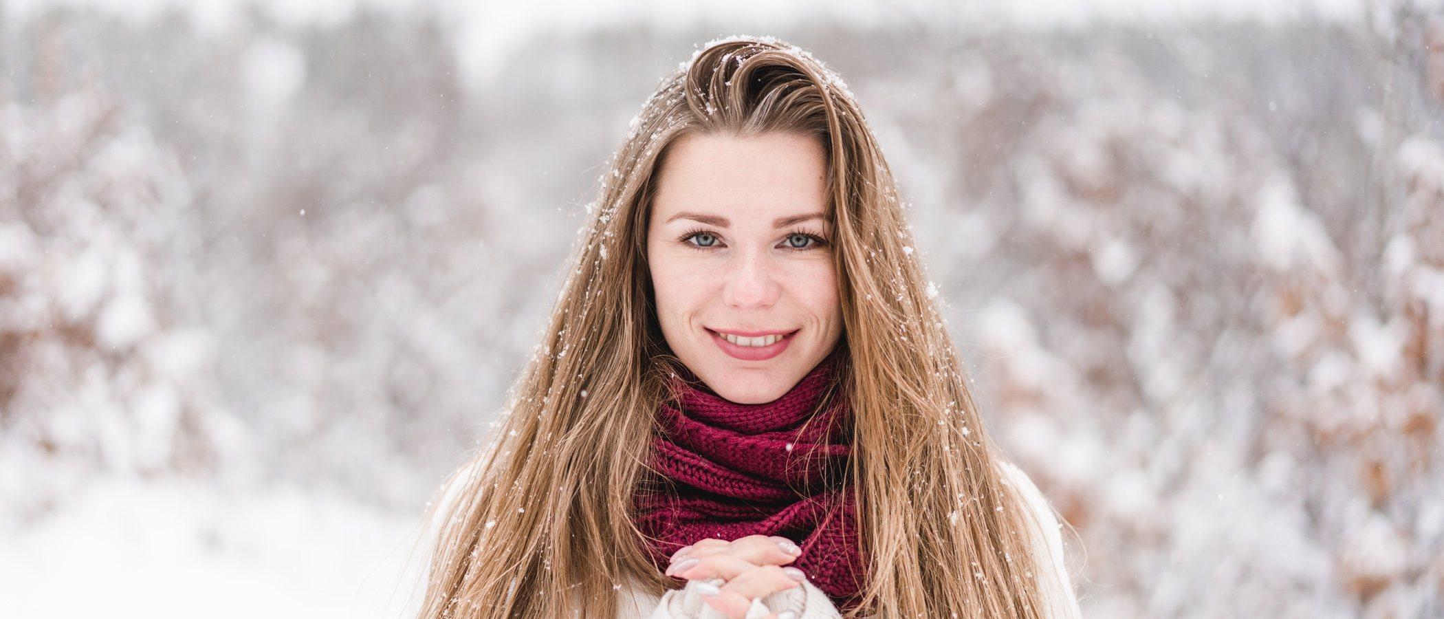 Luce un pelo perfecto en la nieve