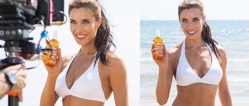 Pilar Rubio se transforma en imagen de Garnier luciendo cuerpo en la playa