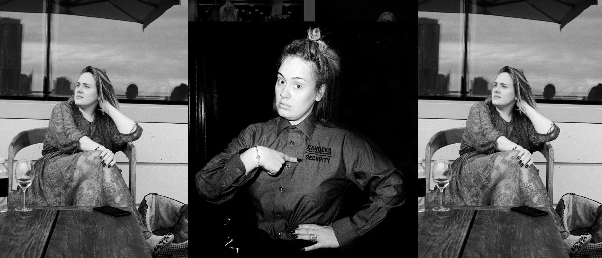 Adele se suma a los selfies 'no makeup' y triunfa con su look más natural