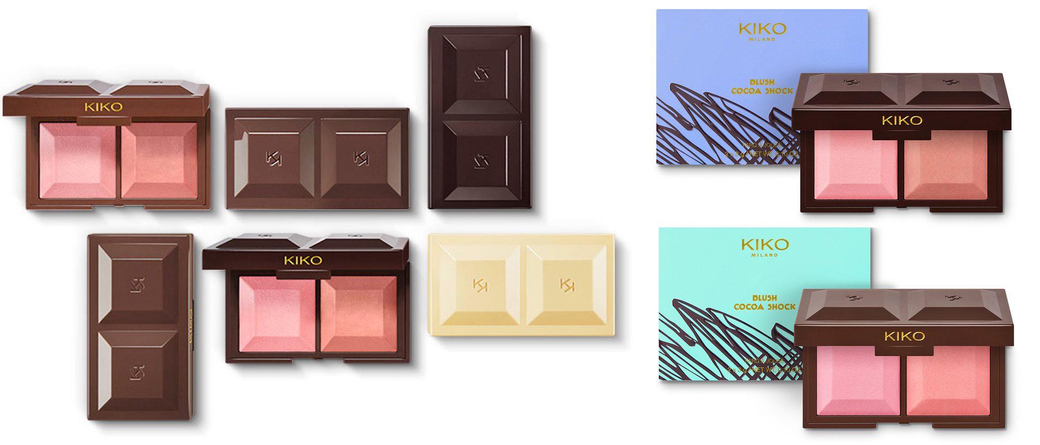 Kiko lanza una colección de coloretes guardados en una tableta de chocolate