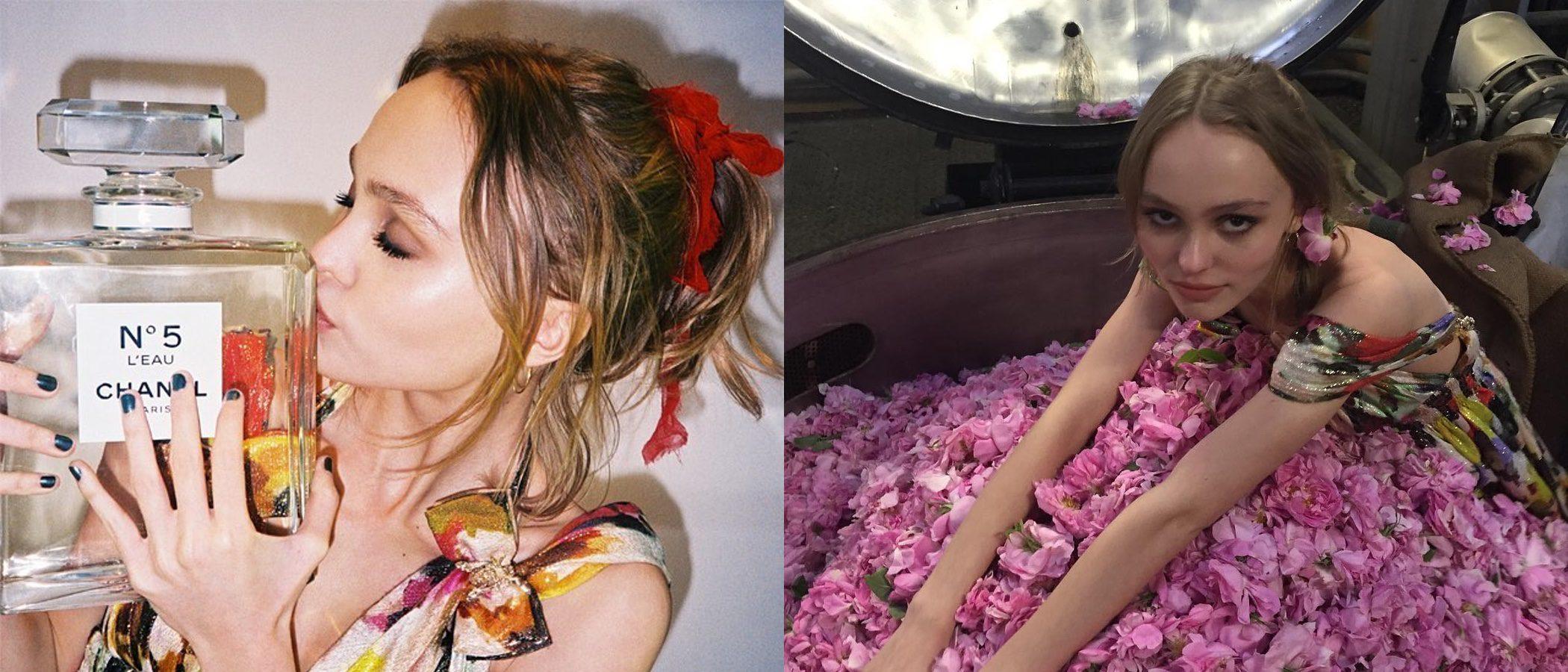 Primeras imágenes de Lily-Rose Depp como nueva embajadora de 'Chanel nº5'