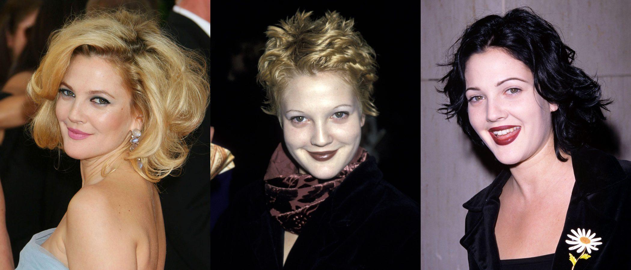 Los peores beauty looks de Drew Barrymore