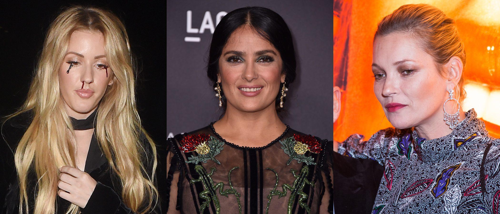 Ellie Goulding, Salma Hayek y Kate Moss entre los peores beauty looks de la semana