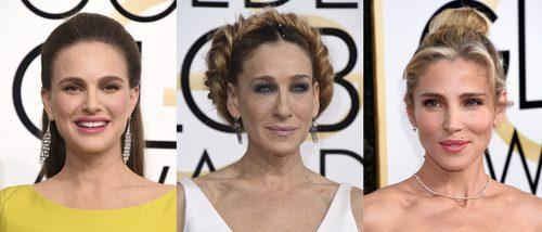 Natalie Portman, Sarah Jessica Parker y Elsa Pataky llevan los peores beauty looks de los Globos de Oro 2017