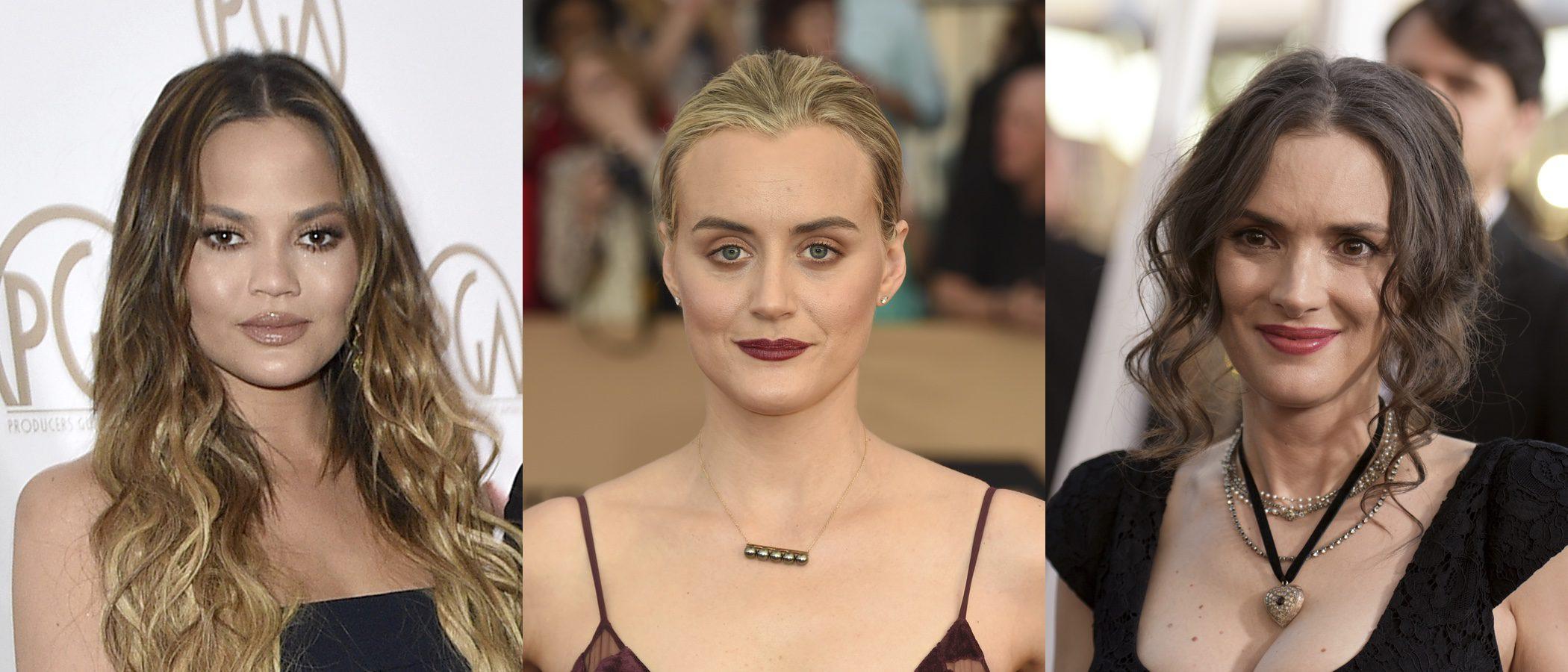 Chrissy Teigen, Taylor Schilling y Winona Ryder entre los peores beauty looks de la semana