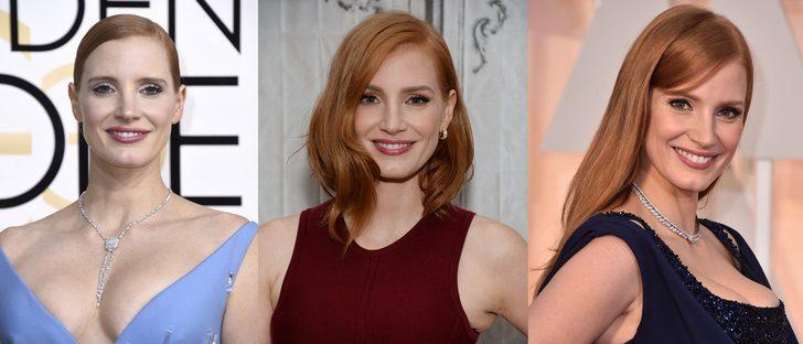 Los mejores peinados de Jessica Chastain